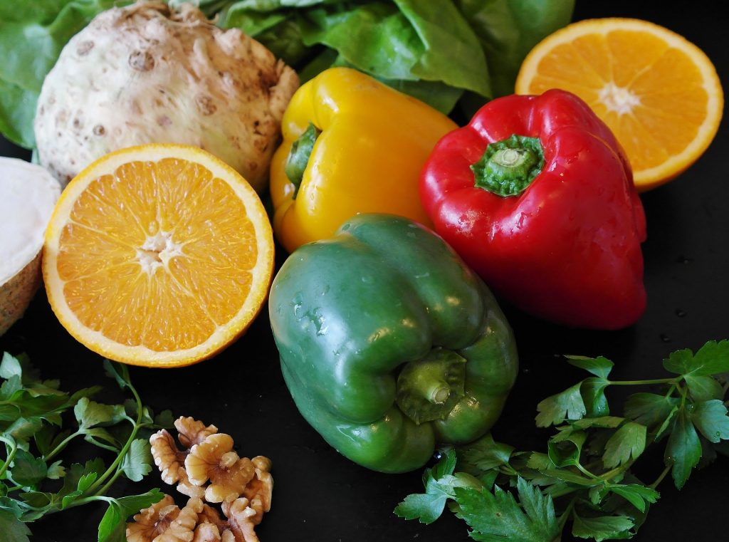 comida de colores variados