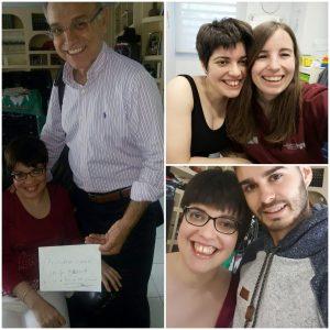 colage de fotos con los tres profesionales