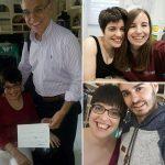 collage de fotos con los tres profesionales